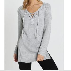 Like New! Showpo Knit Tie Up Sweater